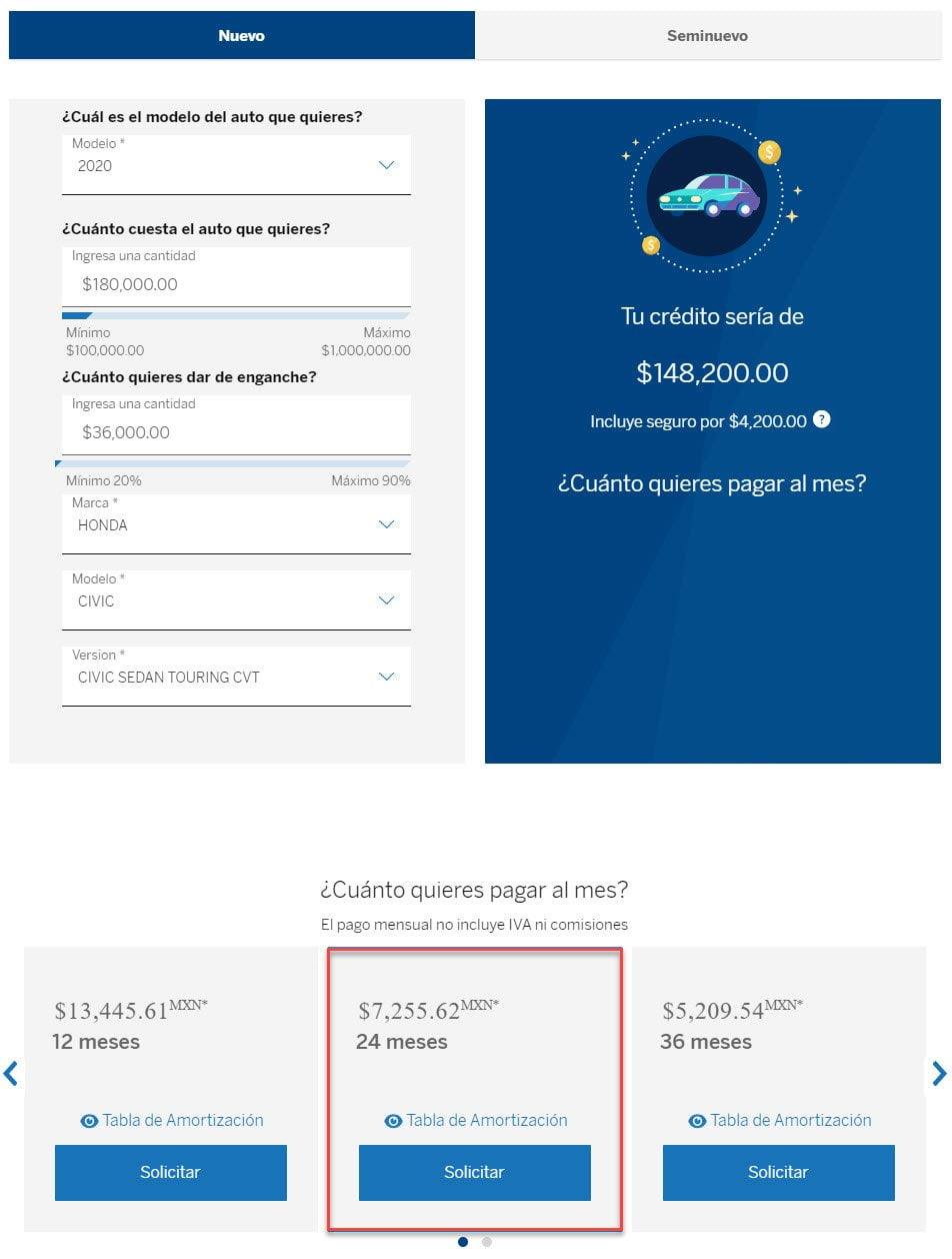 simulador crédito automotriz